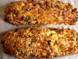 Cooked country loaf - with spinach, feta, tomatoes & herbs
