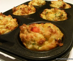 Vegetable & vanilla yoghourt muffins
